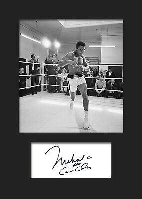 MUHAMMAD ALI - Signed Photo A5 Mounted Print - FREE DELIVERY