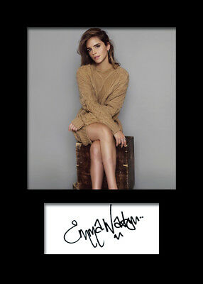 EMMA WATSON #3 A5 Signed Mounted Photo Print (REPRINT) - FREE DELIVERY