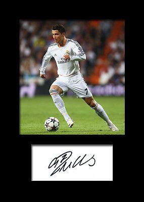 CRISTIANO RONALDO #5 Signed Photo Print A5 Mounted Photo Print - FREE DELIVERY