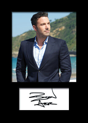 BEN AFFLECK #2 A5 Signed Mounted Photo Print (REPRINT) - FREE DELIVERY