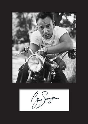 BRUCE SPRINGSTEEN #2 Signed Photo Print A5 Mounted Photo Print - FREE DELIVERY