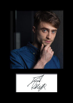 DANIEL RADCLIFFE #1 A5 Signed Mounted Photo Print (REPRINT) - FREE DELIVERY