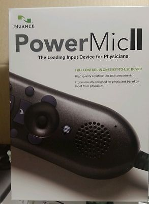 NEW (Open Box) Nuance 0POWM2N PowerMic II Handheld USB Dictation Microphone