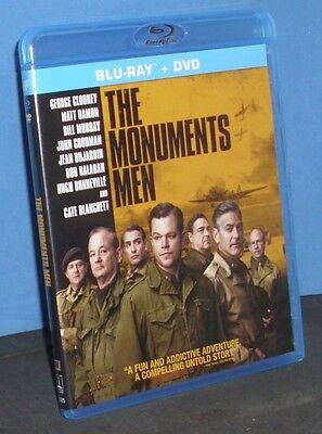 The Monuments Men (Blu-ray/DVD, 2014, 2-Disc Set)