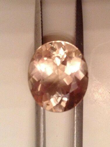 Beautiful Sparkling Peach Morganite, Oval Loose Gemstone, 14x12mm, 6.85cts.