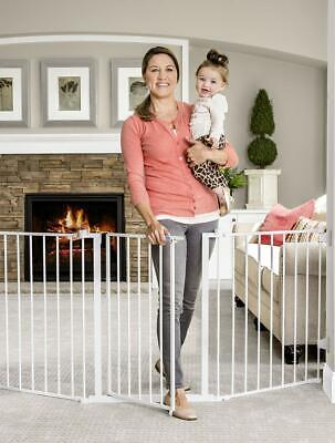 Regalo 76 Inch Super Wide Configurable Baby Gate, 3-Panel, Includes Wall...