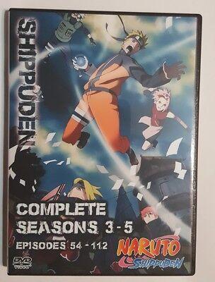 Naruto Shippuden Episodes 54-112 in English / Japanese Seasons 3 - 5 on DVD