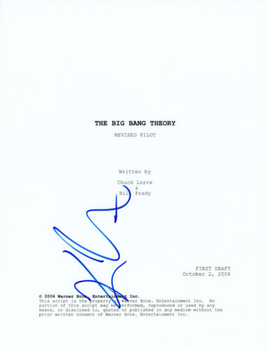 Kaley Cuoco The Big Bang Theory signed FULL script AFTAL UACC + Online COA
