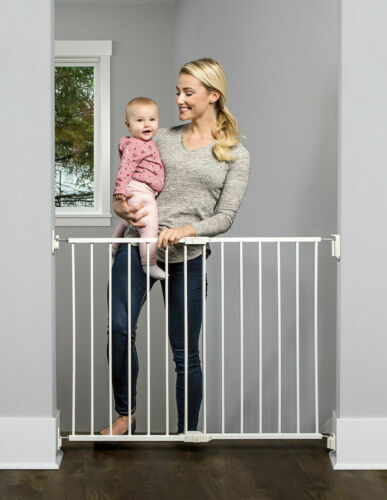 Regalo Top of Stair Safety Gate, Baby Pet Safety Gate, White