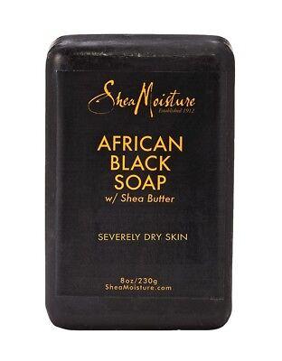 Shea Moisture African Black Soap with Shea Butter 8oz 230g