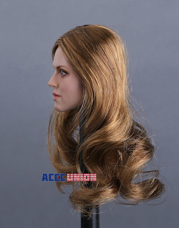 """1//6 Female Head Sculpt Brown Hair SDH002C For 12/"""" TBLeague PALE Figure"""