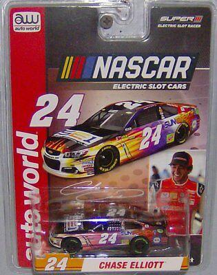 """""""NEW"""" AW REL 3 #24 CHASE ELLIOTT NASCAR SERIES SUPER III HO SLOT CAR"""