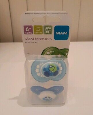 MAM Monsters Orthodontic Pacifier BRAND NEW IN PACKAGE