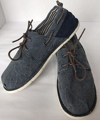 New Crocs Cabo Boat Canvas Mens Shoes Size 9 Navy Stucco Light Nautical, used for sale  Brampton