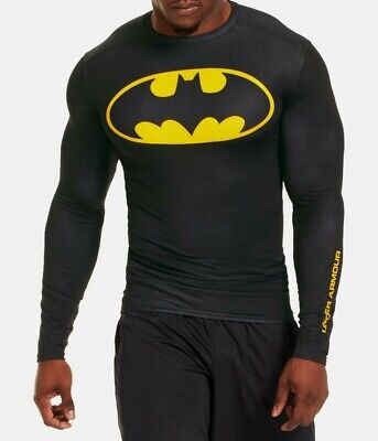 UNDER ARMOUR MENS XL BATMAN alter ego HEAT GEAR LONG SLEEVE COMPRESSION