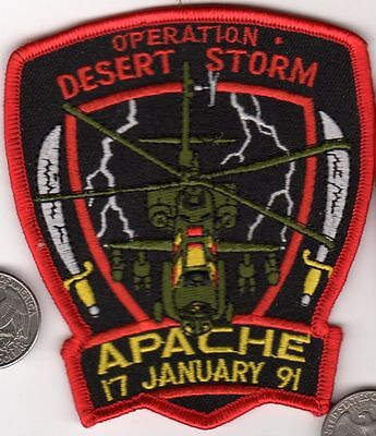Us Navy Marine Corps Army Attack Helicopter Squadron Patch Apache 17January 1991
