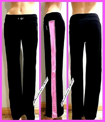 BEBE SPORT BLACK/PINK/SILVER Yoga Pants, XS (runs big,fit S better)  (Best Breathable Yoga Pants)