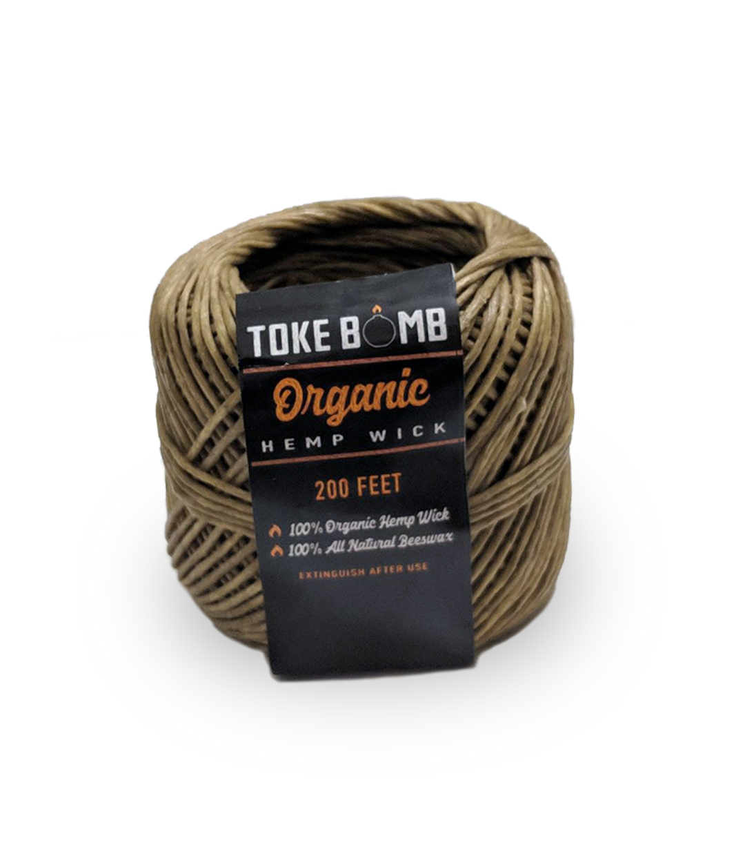 1 Roll of 200 ft Hemp Wick with Organic Beeswax