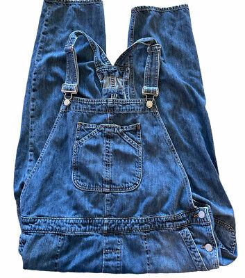 Vintage Overalls & Jumpsuits Gap Overalls Crop Slouch Bibs Denim Blue Jean Size XL $35.99 AT vintagedancer.com