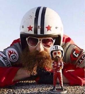 Captain Risky Bobble Head Packaging Flyer Sticker & BONUS MASK Lake Haven Wyong Area Preview