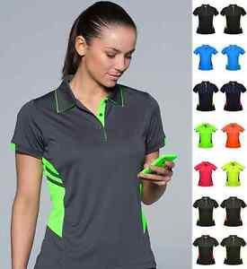 Ladies tasman polo shirt 2311 neon fluro colours sports for Work uniform polo shirts