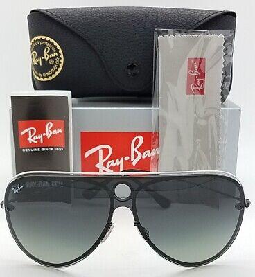 NEW Rayban sunglasses RB3605N 909511 Shield White Black Gradient AUTHENTIC (White Rayban Sunglasses)