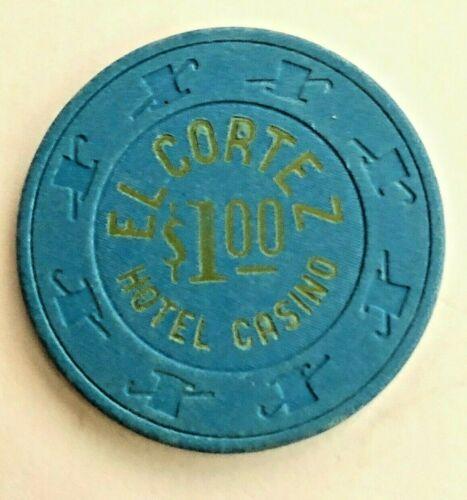 -VINTAGE-**El Cortez**$1 Chip Las Vegas 1970s