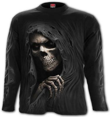 Spiral Direct GRIM RIPPER Long Sleeve T-Shirt/Grim Reaper/Skull/Death/Top/Bones
