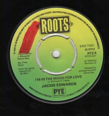 JACKIE EDWARDS - I'M IN THE MOOD FOR LOVE / MARY - ROOTS