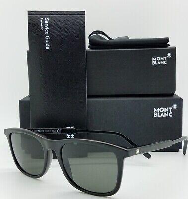New Mont Blanc sunglasses MB593S 01D Black Grey Polarized  Zeiss AUTHENTIC 593S (Mont Blanc Polarized Sunglasses)