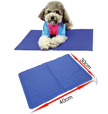 PET COOLING GEL MAT BED DOG CAT SUMMER HEAT RELIEF NON TOXIC CUSHION PAD 39X30CM