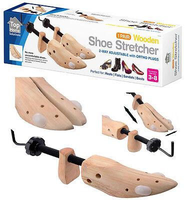 2 x Womens Ladies Shoe Stretchers Tree Wooden Shaper Bunion Corn Blister 3-8