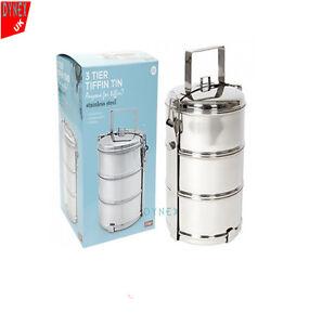 Tiffin food kitchen storage ebay for Zaffron kitchen set lunch