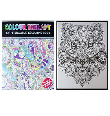 New 2nd Edition Adult Anti-Stress Colour Therapy Colouring Book 120 Pages