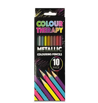 10pc metallic colour pencil in box good