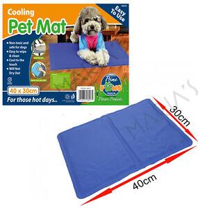 Pet Dog Cat Cool Mat Self Cooling Gel Pad Bed Mattress Heat Relief Non