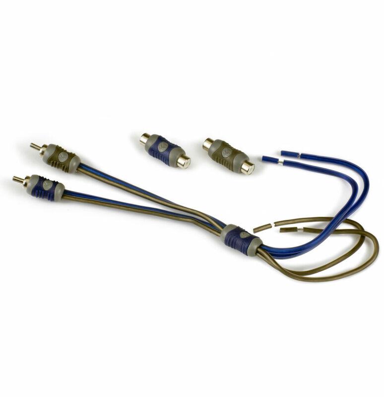 Kicker 46KISL Car Audio Amp Amplifier Speaker Wire to 2 Channel RCA Adapter KISL