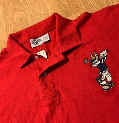 Vintage Acme Clothing Bugs Bunny Golf Polo Shirt Size Men's 2XL XXL NEW