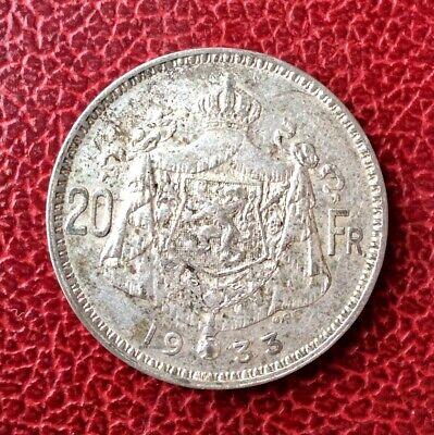 Belgique - Albert Ier - Très Jolie. 20 francs 1933 FR   en argent position A