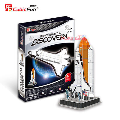 New Space Shuttle Discovery 3D Puzzle Jigsaw Model 87 Pieces 20X18x38cm P601h