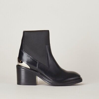 NWOT Acne Studios $720 38 US 7.5 Black Dion Leather Boots Booties SOLD OUT