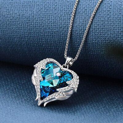 Flowers Silver Jewelry Box - Sterling Silver Blue Topaz Flower Heart Love Pendant Necklace 18