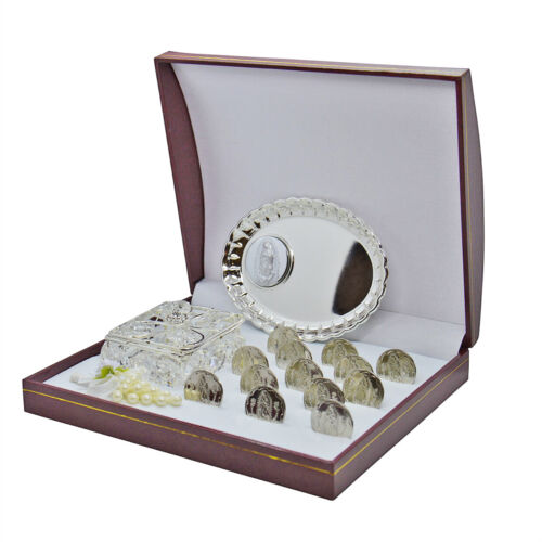 Arras de boda  Matrimonio Silver Wedding Coins In Magnetic Display Box