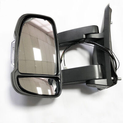 FIAT DUCATO 2006 TO 2017 Electric Long Arm Wing Door Mirror Left SIDE
