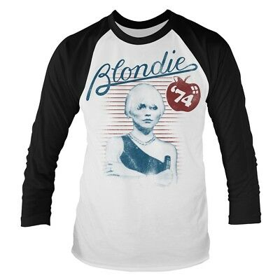 Blondie 'Apple 74' Long Sleeve Baseball T shirt - NEW