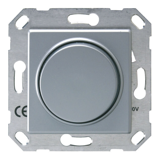 Düwi StandardQuadro Dimmer NV-Elektronisch silber 230V 20-300 VA Licht Elektro