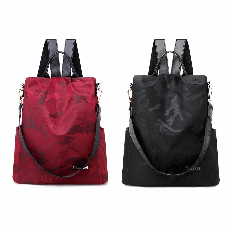 Damen Rucksack Anti Diebstahl Wasserabweisend Handtasche Schultertasche Tarnmust