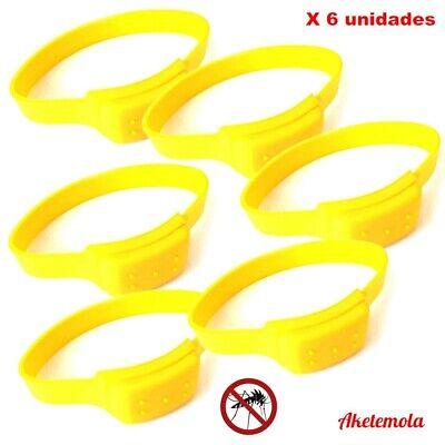 6 x Pulsera Antimosquitos Repelente7 / 10 dias. Silicona 6,5 cms diametro