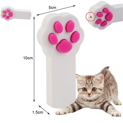 Cute Cat Claw Shape Laser Beam Pointer Pen Lazer Cat Kitty Play Amusement Toy D@