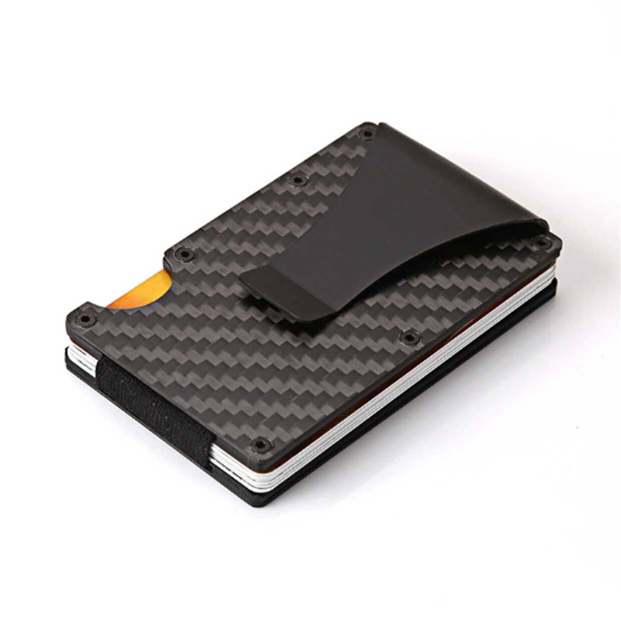 058b502c654f Details about Sale Wallet Carbon Fiber Money Clip Minimalist Pocket Slim  RFID 2019 AK
